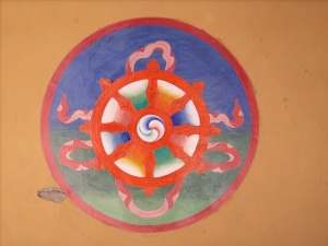 A Dharma wheel from Ladakh India, 2008