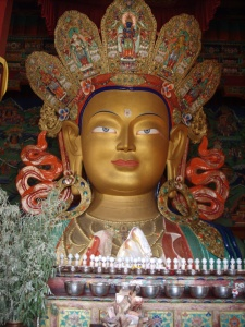 Maitreya Buddha statue, Thiksey Monastery, Ladakh India