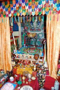 the mandala with surrounding ritual items