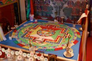Chenrezig Mandala, TMC Winter Drubchen, Frederick, Md