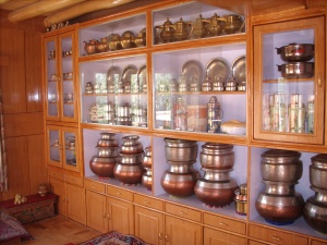 our guest house kitchen (storage), large pots for a celebration