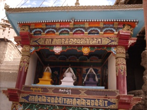 Stupas of the three main Buddha emanations