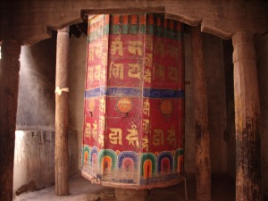 An enormous prayer wheel, Hemis Gompa, Ladakh