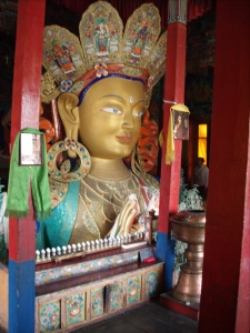 Majestic Maitreya Statue, Tikse Gompa, Ladakh, India