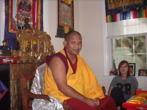 Khenpo discussing Lama Chopa practice