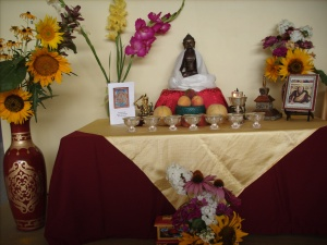 Beautiful shrine from Khenpo's teachings