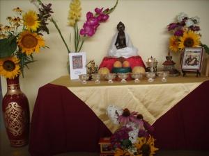 Beautiful shrine from Khenpo's teachings