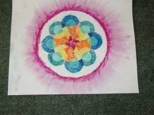 mandala by Kirby, 2004, pastels
