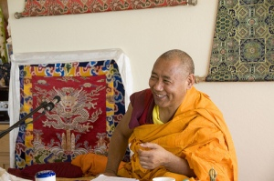 Tibetan Lamas know about working with the heart (Khenchen in Arizona, Angela Harkavy photo)