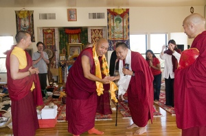 Khenchen and Garchen Rinpoche, Arizona (Angela Harkavy Photo)
