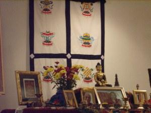 Beautiful shrine for Chod teachings, Va Beach