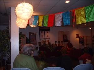 Fascinating artwork (lamps) in the shrine / meditation room, Heritage Center