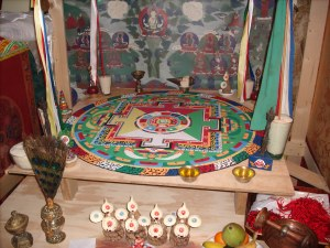 the sand mandala and all its accessories