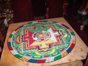 sand mandala of Chenrezig, Buddha of Vast Compassion